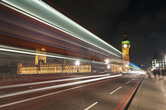 Westminster Bridge at London, England Royalty Free Stock Photos
