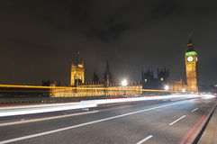 Westminster Bridge at London, England Stock Photo