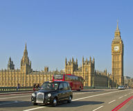 On Westminster Bridge in London. Stock Photo