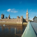 Westminster bridge in London, text space Stock Photo