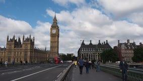 Westminster Bridge in London stock video