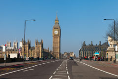 Westminster bridge in London, United Kingdom. Stock Images