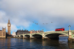 Westminster bridge, London, United Kingdom. Stock Image