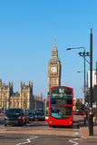 Westminster bridge in London, United Kingdom. Royalty Free Stock Photo
