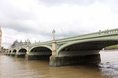 Westminster  Bridge over the River Thames in London. Royalty Free Stock Images
