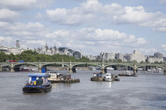 Westminster Bridge and the River Thames, London Stock Photography