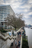 Westminster Bridge Side Walk Royalty Free Stock Photo