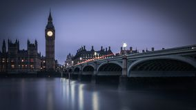Westminster Bridge and the Thames, London royalty free stock photography