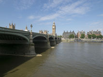Westminster Bridge and the Thames royalty free stock images