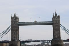 Westminster bridge on the times river in London stock images