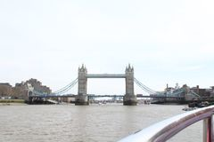 Westminster bridge on the times river in London stock photo