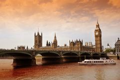 Westminster Bridge UK Royalty Free Stock Photos