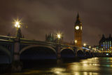 Westminster bridgr and Big Ben tower in London Royalty Free Stock Photo