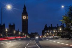 Westminster bro i London Royaltyfri Bild