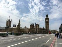 Westminster bro och Big Ben, London, UK Royaltyfri Bild
