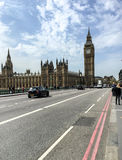 Westminster bro och Big Ben, London, UK Royaltyfria Foton