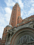 Westminster cathedral. Is the largest Roman Catholic church in England and Wales.The tower is about 60ft higher than the western towers of Westminster Abbey Stock Photos