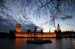Westminster an der Dämmerung stockfoto