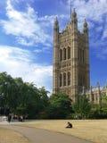 Westminster - die Häuser des Parlaments in London Stockbild