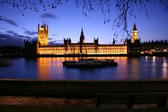 Westminster at dusk Royalty Free Stock Photo