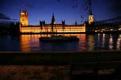Westminster at dusk Royalty Free Stock Image