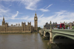 Westminster e Ben grande Imagem de Stock Royalty Free