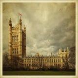Westminster en Londres, Reino Unido Imagen coloreada efecto del vintage Fotografía de archivo