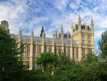 Westminster - The Houses of Parliament in London. Famous touris attraction in London Royalty Free Stock Photography