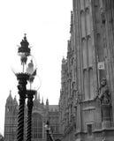 Westminster lampor arkivbild