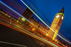 Westminster With  light trails Royalty Free Stock Photos