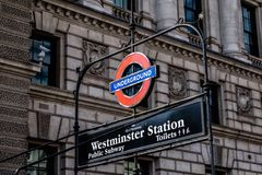 Westminster Londra Fotografia Stock