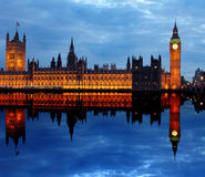 Westminster met Big Ben in Londen Royalty-vrije Stock Foto's