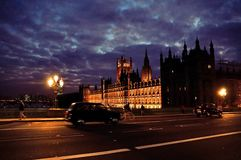 Westminster at night Royalty Free Stock Photo