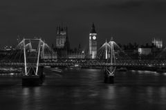 Westminster at Night Stock Photo
