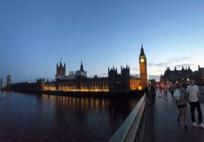 Westminster no por do sol Fotos de Stock Royalty Free