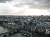 Westminster palace aerial view Stock Photo