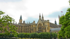 Westminster Palace architecture, House of Lords stock video footage
