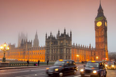 Evening at Westminster bridge Stock Images