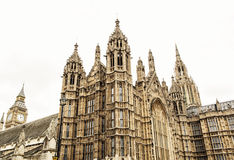 Westminster palace and Big Ben in London, Great Britain Stock Photos