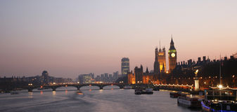 Westminster Palace at Dusk Stock Photography