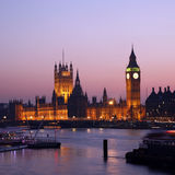 Westminster Palace at Dusk Royalty Free Stock Photography