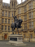Westminster Palace and King Richard Stock Photography