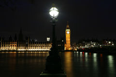 Westminster Palace at night Stock Photos