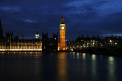 Westminster Palace at night Royalty Free Stock Photos