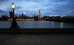 Westminster Palace at night Stock Image