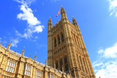 Westminster Palace tower London Royalty Free Stock Photos
