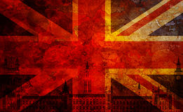 Westminster Palace Union Jack Flag Grunge Texture Background Royalty Free Stock Images