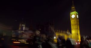 Westminster-Palast nachts stock video