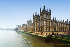 Westminster parliament. And Thames river in London Stock Photography
