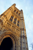 Westminster: parliament tower details, London, UK Royalty Free Stock Image